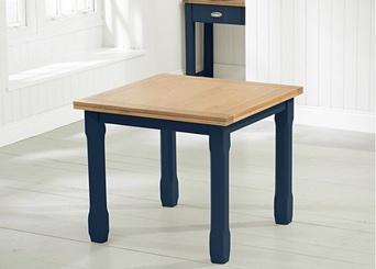 Oak & Blue Painted Tables