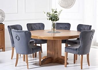 Round Oak Tables