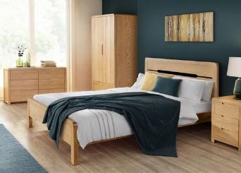 Geo Curve Oak Bedroom