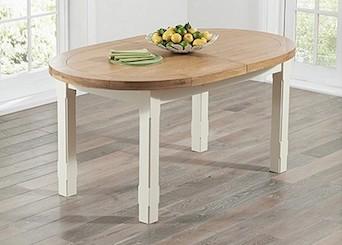 Oak & Cream Painted Tables