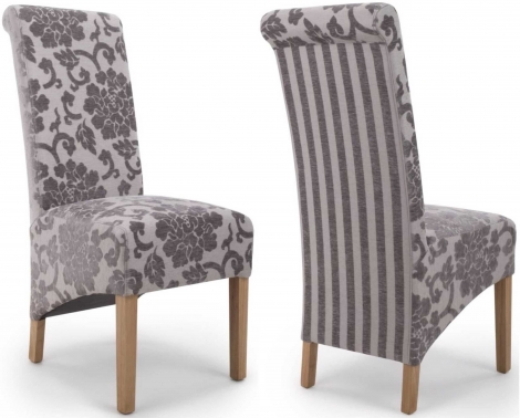 2x Baroque Mink Velvet Roll Back Dining Chairs (Pair)