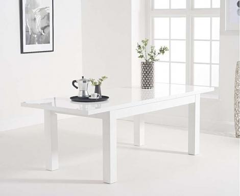 Ava 160cm - 220cm Extending White High Gloss Table