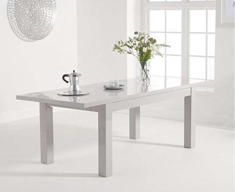 Ava 160cm - 220cm Extending Light Grey High Gloss Table