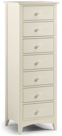 Cameo Stone White 7 Drawer Chest of Drawers
