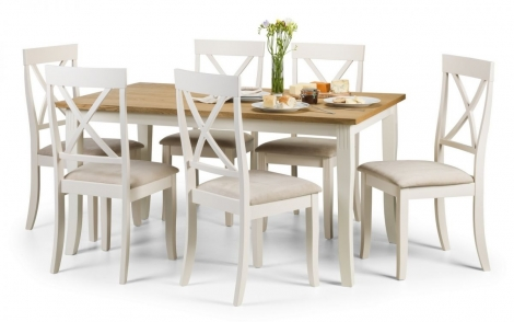Davenport Rectangular Fixed Top Dining Table & 4 Chairs