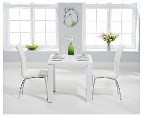 Ava 80cm White High Gloss Table & California Chairs