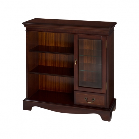 Ashmore Antique Reproduction, 1 Drawer Display Bookcase