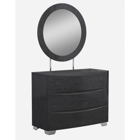 Angela Dresser in slate grey wood grain high gloss