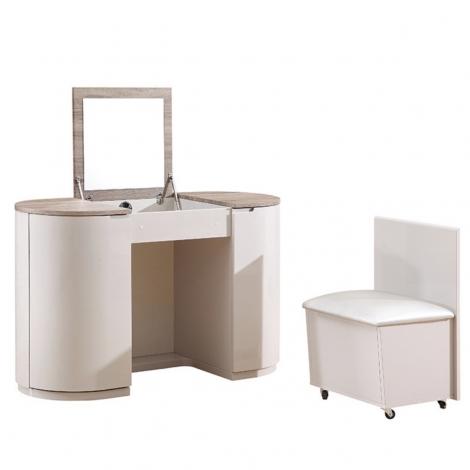 Azzurri Vanity Unit / Dressing Table in Cashmere and Oak Gloss Wood