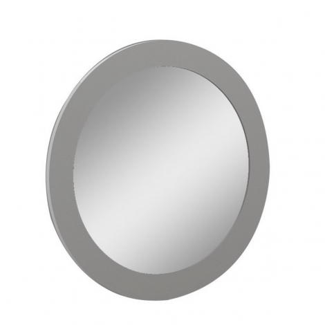 Azzurri / Bella / Mila Round Wall Mirror in Cashmere Gloss Wood