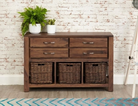 Macan Walnut Console Table