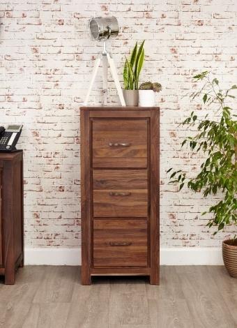 Macan Walnut 3 Drawer Filing Cabinet