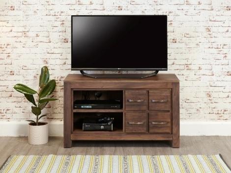 Macan Walnut Four Drawer TV Cabinet
