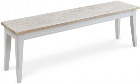 Autograph Grey Painted Large Dining Bench - 150cm