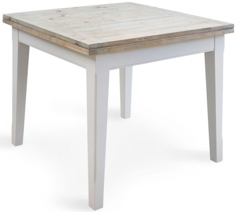 Autograph Grey Painted Square Extending Dining Table