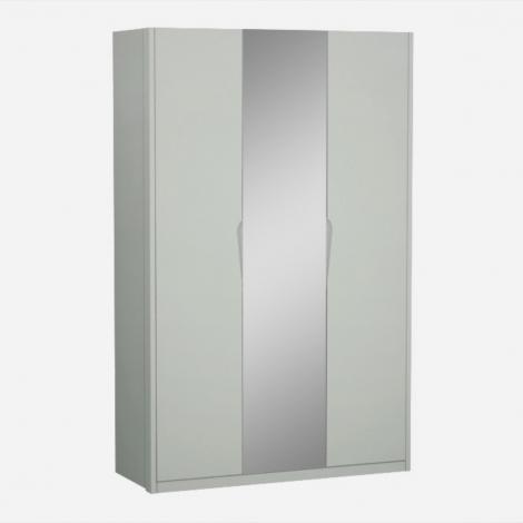Arya / Lilly 3 Door Hinged Robe in Light Grey High Gloss