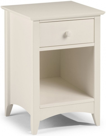 Cameo Stone White 1 Drawer Bedside
