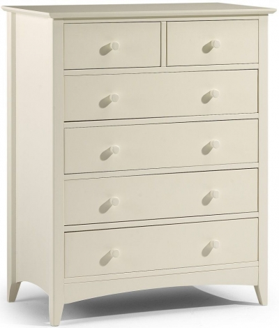 Cameo Stone White 4+2 Chest of Drawers