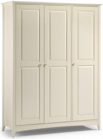 Cameo Stone White 3 Door Wardrobe