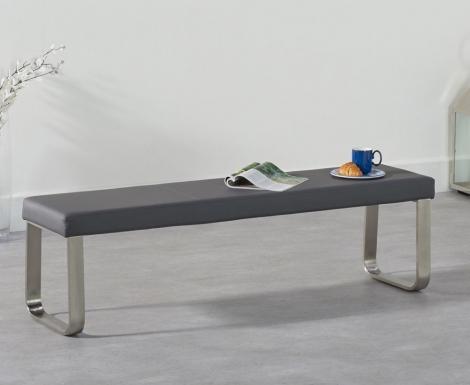 Ava Large Grey Bench 162cm