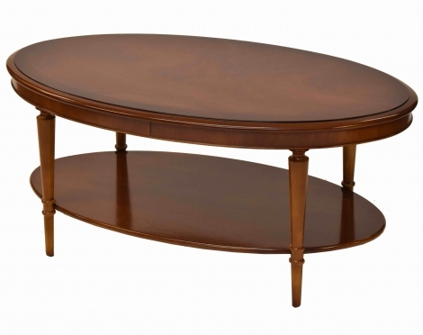 Bradley Antique Reproduction Oval Coffee Table With Shelf