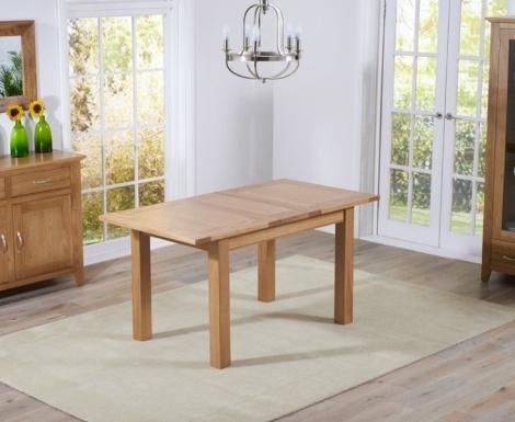 Cambridge 120cm - 153cm Oak Extending Dining Table