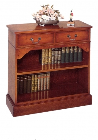Bradley Antique Reproduction 2 Drawer Low Bookcase