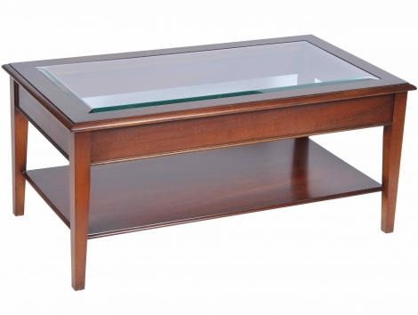Bradley Antique Reproduction Coffee Table Glass Top