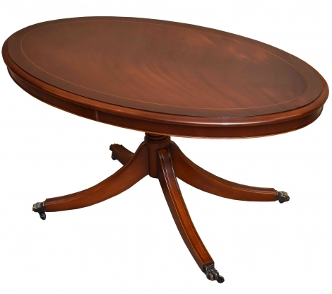 Bradley Antique Reproduction Oval Coffee Table