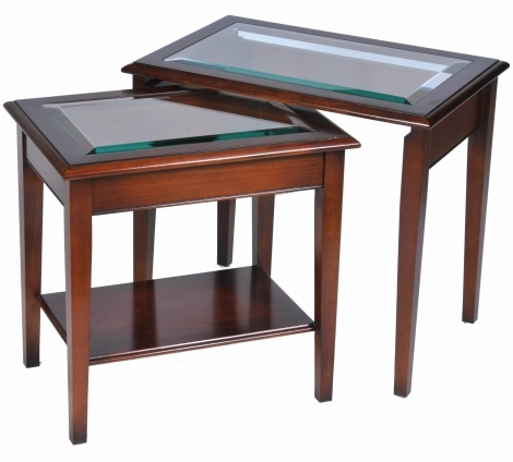 Bradley Antique Reproduction Nest Of Tables Glass Top
