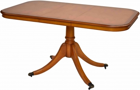 Bradley Antique Reproduction Single Pedestal D End Dining Table