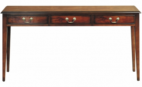 Bradley Antique Reproduction 3 Drawer Long Console / Sofa Table