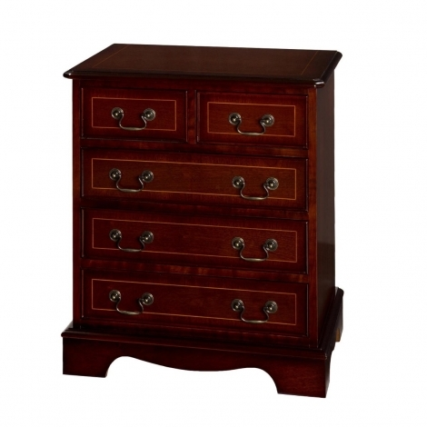 """Ashmore Antique Reproduction, 24"""" 5 Drawer Chest"""