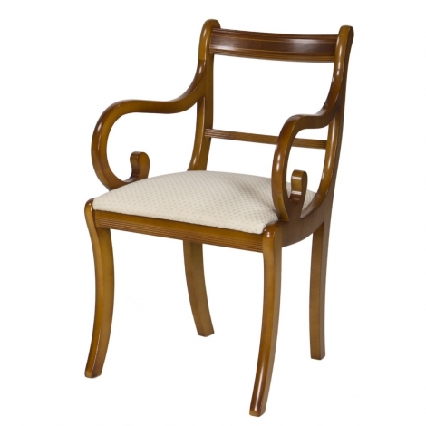 Ashmore Antique Reproduction, Scroll Dining Carver Chair