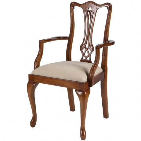 Ashmore Antique Reproduction, Chippendale Carver Chair.
