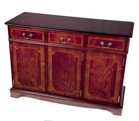 Ashmore Antique Reproduction, 4ft 3 Door Sideboard