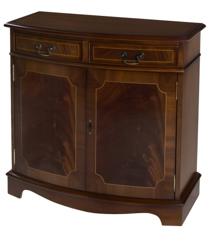 """Ashmore Antique Reproduction, 2ft 9"""" Bow Sideboard"""