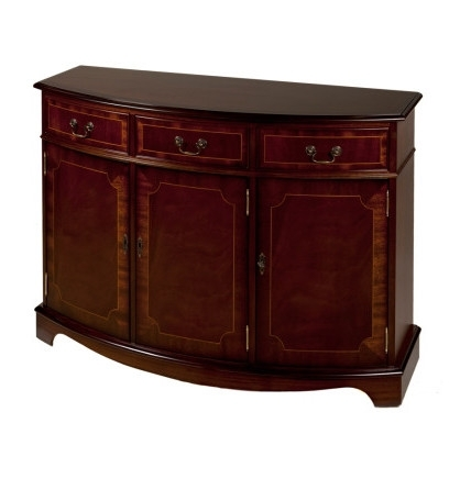 Ashmore Antique Reproduction, 3 Door Bow Sideboard