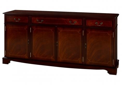 "Ashmore Antique Reproduction, 6'6"" 4 Door Sideboard"