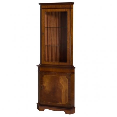 Ashmore Antique Reproduction, Corner Display Cabinet