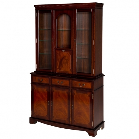 Ashmore Antique Reproduction, 4ft Wall Unit With Drinks Cabinet