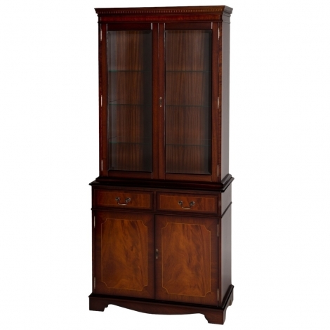 Ashmore Antique Reproduction, 3ft 2 Door Display Cabinet