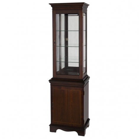 Ashmore Antique Reproduction, Niche Display Cabinet, Bottom Door