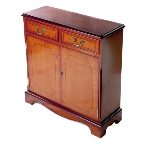 Ashmore Antique Reproduction, 2 Drawer Closed Bookcase