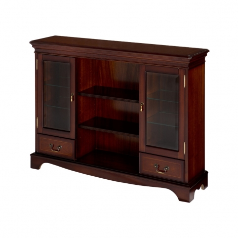 Ashmore Antique Reproduction, 2 Drawer Display Bookcase