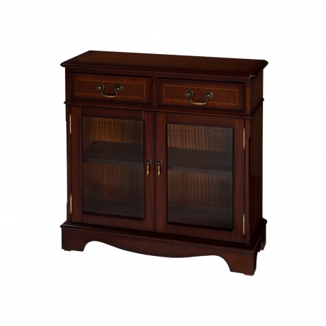 Ashmore Antique Reproduction, Bookcase With Glass Doors