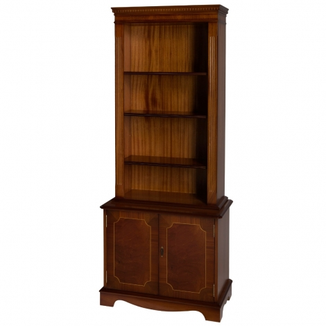 Ashmore Antique Reproduction, Tall Bookcase Cupboard