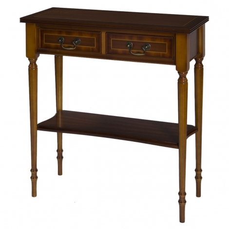 Ashmore Antique Reproduction, 2 Drawer Hall Table