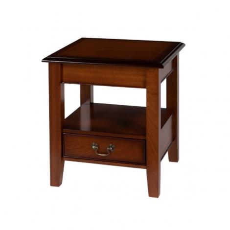Ashmore Antique Reproduction, 1 Drawer Sheraton Lounge / Lamp Table