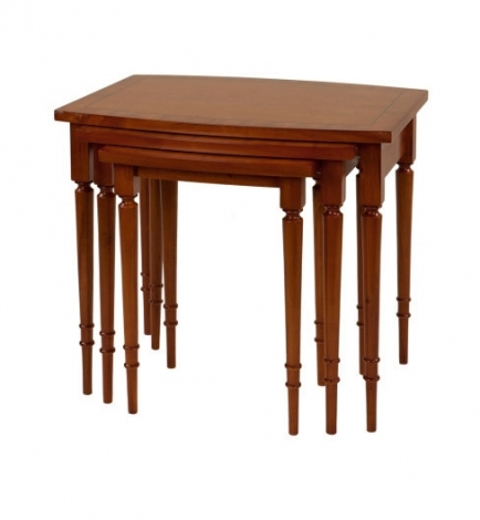 Ashmore Antique Reproduction, Barrell Top Nest of Tables